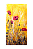 For The Love Of Poppies Poster por Ruth Palmer