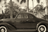 Old Car on Ocean Boulevard, Miami Beach, Florida Photographic Print by George Oze