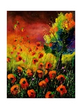 Red Poppies 451130 Giclee Print by  Ledent