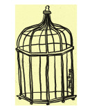 Birdcage in Butter Giclee Print by Janel Bragg