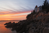 Sunset Scenic, Bass Harbor Head Lighthouse, Maine Photographic Print by George Oze
