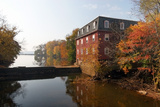 Autumn Morning at the Kingston Mill, New Jersey Photographic Print by George Oze