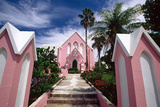 Pink Church, Hamilton, Bermuda Photographic Print by George Oze