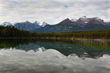 Mountain Reflections, Herbert Lake, Canada Photographic Print by George Oze