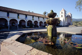 Fountain of Mission Santa Barbara Photographic Print by George Oze