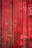 Hinge on a Red Barn Photographic Print by Steve Gadomski
