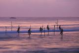 Stilt Fishermen Impressão fotográfica por Charles Bowman