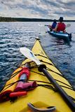 Kayaking Lake Superior Impressão fotográfica por Steve Gadomski
