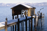 Boathouse on Lake Tahoe, California Photographic Print by George Oze