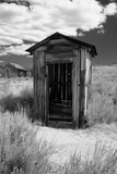 Outhouse in Ghost Town, Bodie, California Photographic Print by George Oze