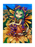 Sitting on a Sunflower Giclee Print by Jasmine Becket-Griffith