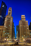 Chicago City Canyon Photographic Print by Steve Gadomski