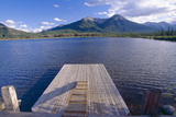 Jetty on the Lake, Vermillion Lake, Banff, Canada Photographic Print by George Oze