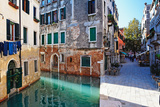 Morning Light on the Canal, Venice Italy Photographic Print by George Oze