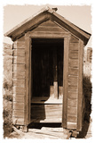 Old Outhouse, Bodie Ghost Town, California Photographic Print by George Oze