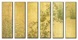 Japanese Autumn Grasses, Six-Fold Screen, Early Edo Period Plakaty