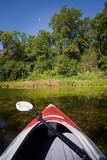Kayak on a Forested Lake Impressão fotográfica por Steve Gadomski