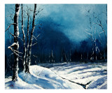 Winter Landscape Giclee Print by Veronique Radelet