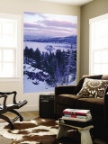 Emerald Bay State Park in Winter at Dusk, Lake Tahoe, California, USA Wall Mural by Scott T. Smith