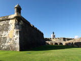 Walls and Moat of El Morro Fort, San Juan Photographic Print by George Oze
