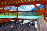 Boathouse on Emerald Lake, Canada Photographic Print by George Oze
