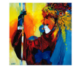 Personnage Rouge aux Plumes Giclee Print by Max Laigneau