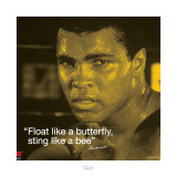 Muhammad Ali: Float Like a Butterfly Lminas
