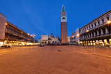 St Marks Square at Night, Venice, Italy Photographic Print by George Oze