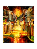 Bourbon Street Night Lmina gicle por Diane Millsap