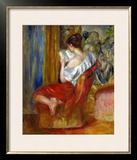 Reading Woman, circa 1900 Framed Giclee Print by Pierre-Auguste Renoir