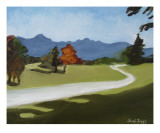 Cascade Foothills Giclee Print by Janel Bragg