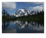 Mount Shuskan and Picture Lake WA Giclee Print by Janel Bragg