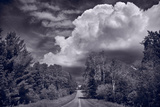 Northwoods Road Trip BW Photographic Print by Steve Gadomski
