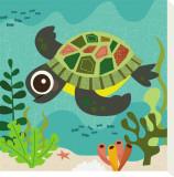 Ocean Friends, Terrance Stretched Canvas Print by Jenn Ski