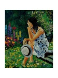 Dreaming In The Garden Giclee Print by  Ledent