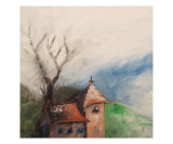 Little Church on a Hill Giclee Print by Janel Bragg