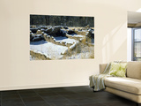 New Snow on Broken Walls of Tyuoni Ruin, Bandelier National Monument, New Mexico, USA Premium Wall Mural by Scott T. Smith
