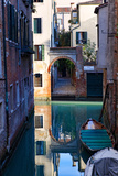 Reflection in a Canal, Venice, Italy Photographic Print by George Oze