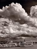 Gathering Storm Over Lake Geneva Impressão fotográfica por Steve Gadomski