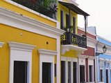 Building Facades, Old San Juan, Puerto Rico Photographic Print by George Oze