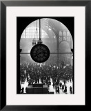 Clock in Pennsylvania Station Framed Photographic Print by Alfred Eisenstaedt