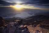Dantes View Sunset, Death VAlley, CA Photographic Print by George Oze