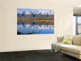 Wellsville Mountains Reflected in Little Bear River in Early Spring, Cache Valley, Utah, USA Wall Mural by Scott T. Smith
