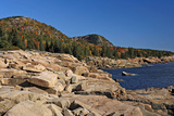 Rocky Shoreline of Acadia , Maine Photographic Print by George Oze