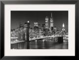 Puente de Brooklyn, Nueva York Póster por Henri Silberman