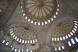 Blue Mosque Ceiling Photographic Print by Charles Bowman