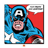 Captain America: For Truth and Justice Plakater