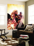 New Avengers No.17 Cover: Ms. Marvel, Captain America and Wolverine Wall Mural by Mike Deodato