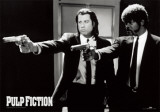 Pulp Fiction –  Duo with Guns (Jackson and Travolta) B & W Movie Poster Print
