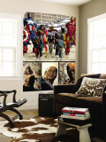 New Avengers No.17 Group: Ms. Marvel, Spider-Man, Wolverine, Iron Man, and Luke Cage Wall Mural by Mike Deodato Jr.